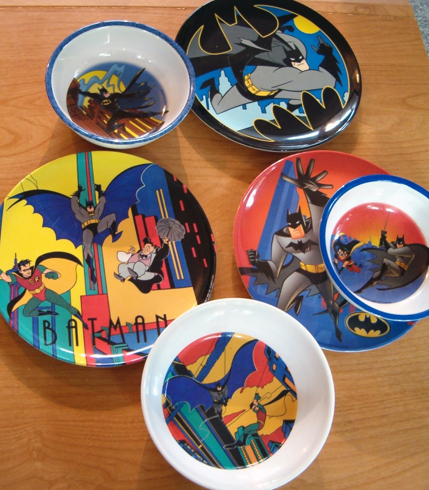 ... the series Above Zak Designs dish sets from 1993 1997 and 1998 (the latter reflecting the evolution of the series into \u201cThe New Batman Adventures\u201d). & Batman: The Animated Series a brbtv report